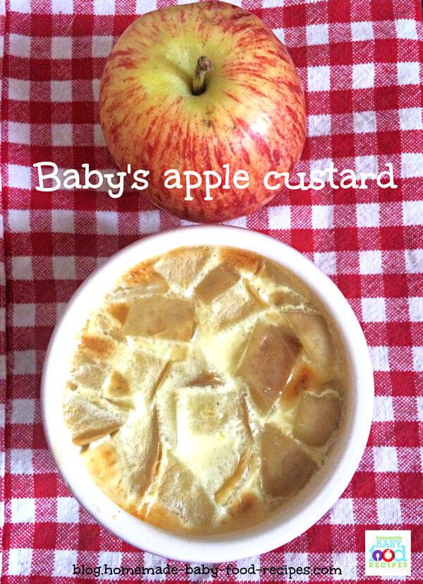 Baby's apple custard