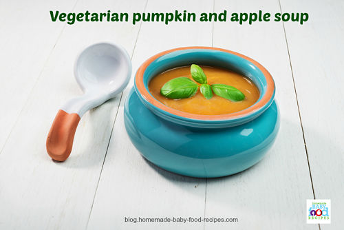 Vegetarian pumpkin soup with apple the homemade baby food recipes blog forumfinder Images
