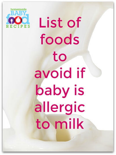 Foods to avoid for baby with milk allergy