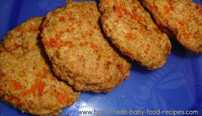 Whole wheat carrot biscuits
