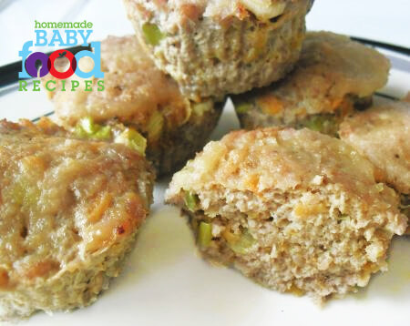 Teeny turkey meatloaves with applesauce the homemade baby food to forumfinder Images
