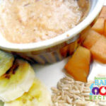 Plum, Banana and Brown Rice Puree