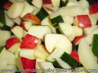 Smooth n silky zucchini potato and apple puree the homemade zucchini potato apple puree baby food forumfinder