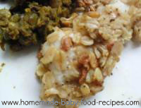 Oat crusted fish and dhal baby food recipe