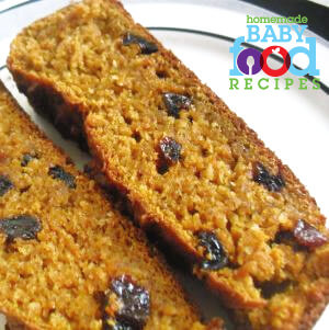 Healthy raisin bread for baby
