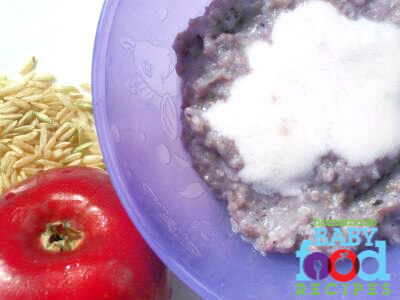 Homemade baby food recipe: Brown Rice and Blueberry Breakfast