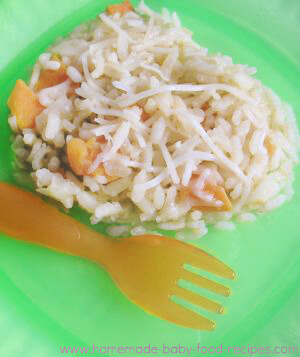 Baby's sweet potato and apple risotto