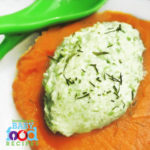 Baby's Pea and Ricotta Puree with Sweet Potato