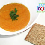 Carrot Soup with Ricotta and Thyme Bread