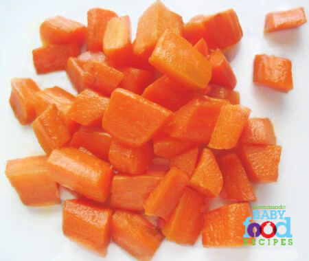 Coconutty carrots baby food recipe