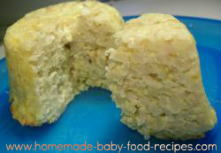 Brown rice baby finger food