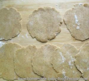 Rolled dough for baked samosas