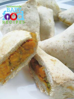 Samosas - a finger food for baby