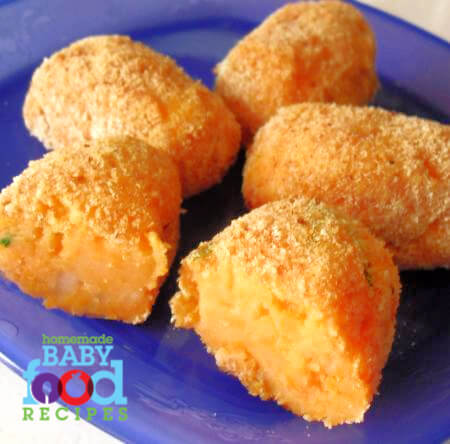 Babys baked sweet potato croquettes the homemade baby food babys baked sweet potato croquettes forumfinder Choice Image