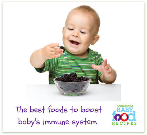 Foods to strengthen baby's immune system