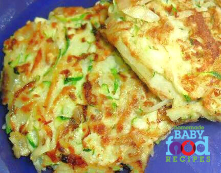 Finger food recipe for baby zucchini and potato cakes the babys zucchini and potato cakes forumfinder Images