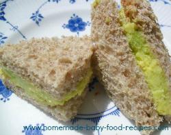 Sandwich ideas for baby