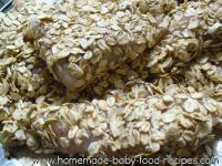 Oat crusted fish and dhal recipe preparation