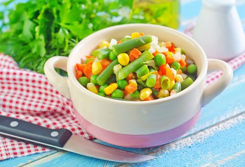 Adding baking soda to vegetables