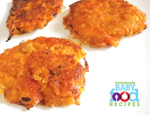 Sweet potato and cheese pancakes