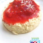 Baby's Creamy Egg Custard with Strawberry Puree