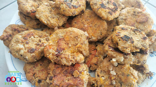 Chicken and lentil cakes