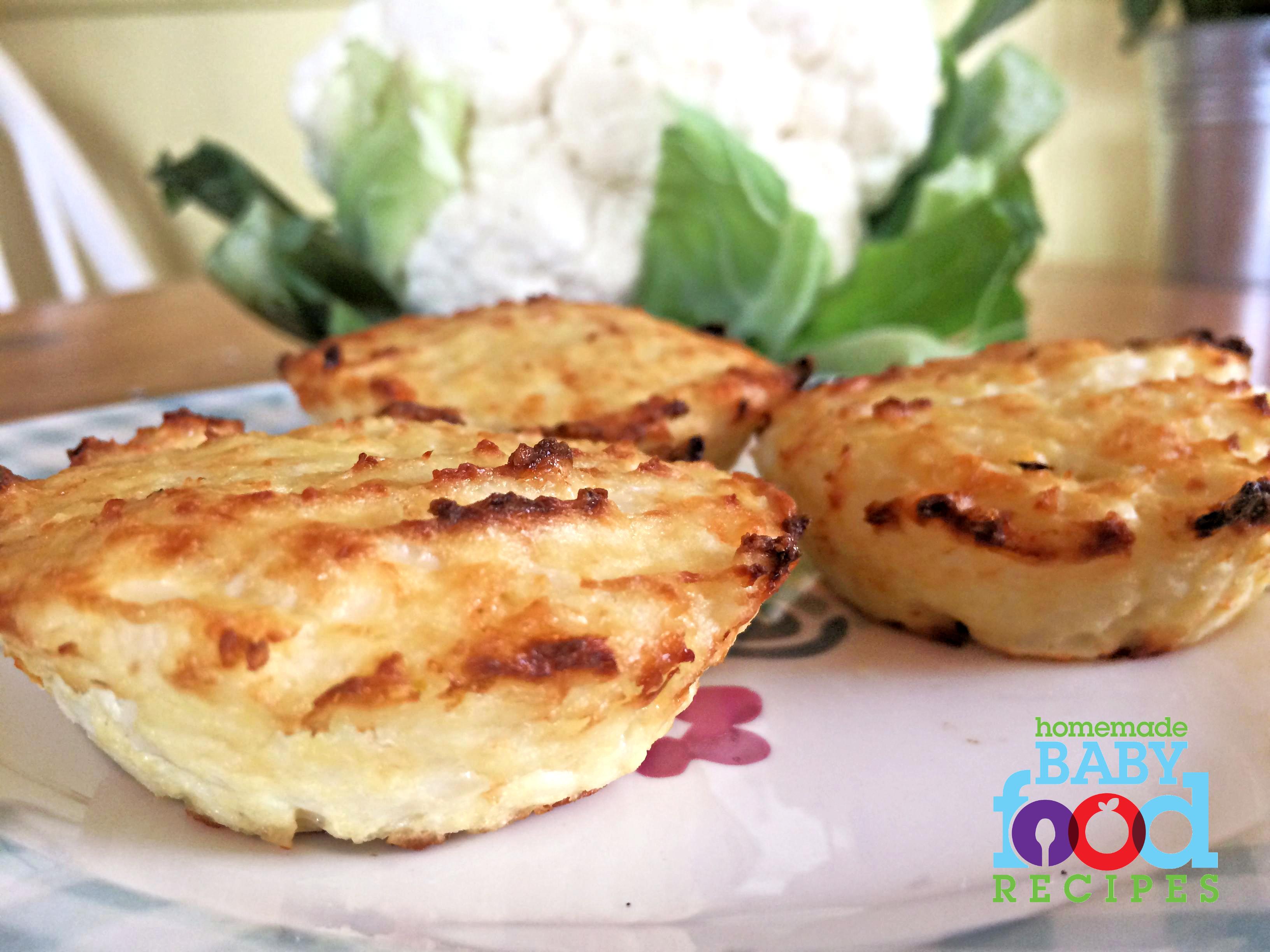 Baby's cauliflower muffins