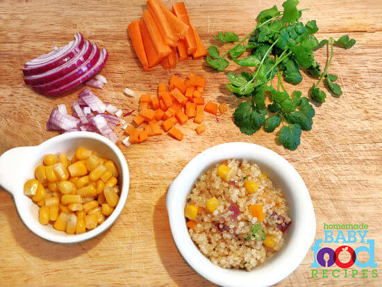 Baby's Vegetable Quinoa - The Homemade Baby Food Recipes ...