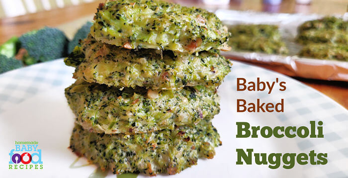 Baby's baked broccoli nuggets