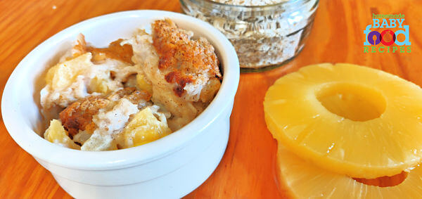 Tropical Baked Oatmeal for Baby