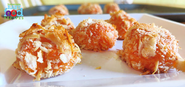 Baked Cheesy Sweet Potato Balls