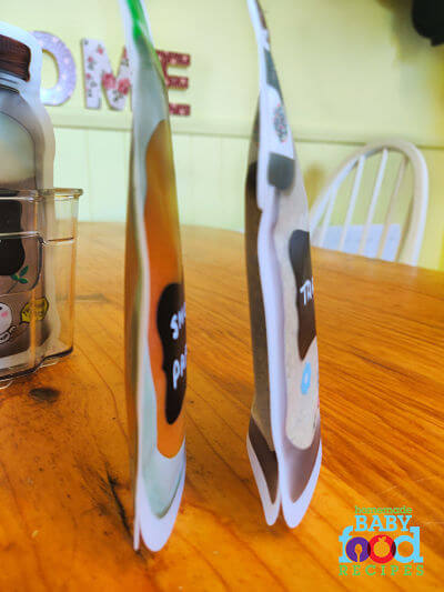 Mason jar bags standing up on their own